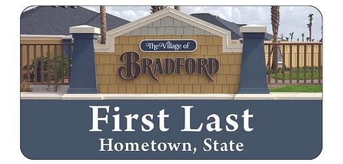Village of Bradford Name Tag