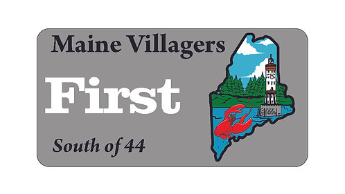 Maine Villagers Name Tag