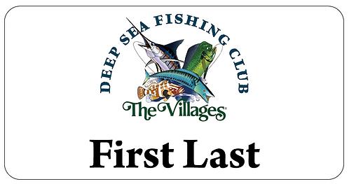 Deep Sea Fishing Club Name Tag