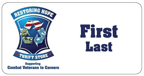 Restoring Hope Name Tag
