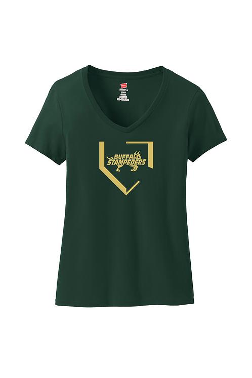 Hanes® Ladies Nano-T® Cotton V-Neck T-Shirt