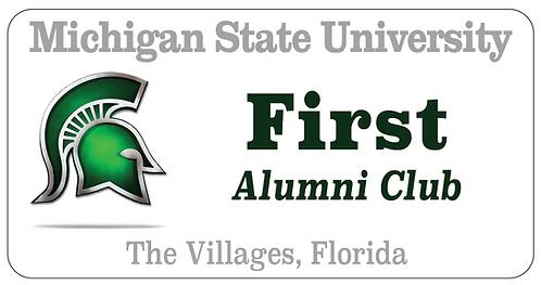 Michigan State University Name Tag