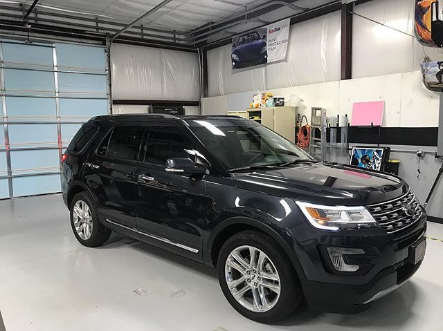 2017 Ford Explorer tinted out with our SunTek carbon film!!! Call us today for all your tinting need