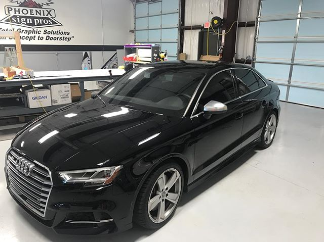 We got this 2017 Audi blacked out in our _suntekfilms