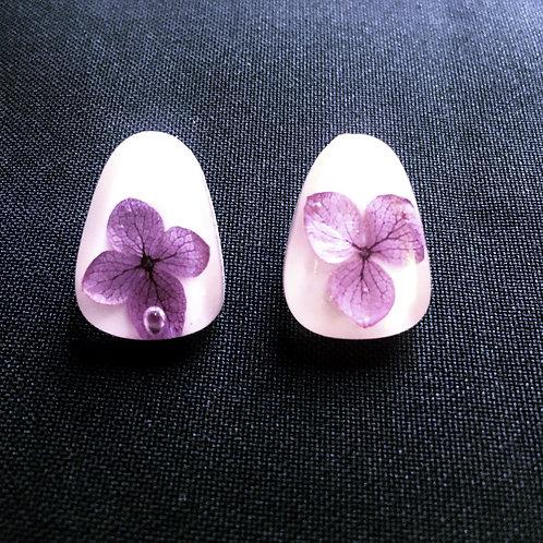 Aretes florecitas rosas