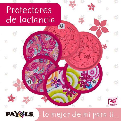 Protector de lactancia rosa