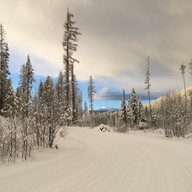 Sunrise date at the Kimberley Nordic Center by Jen Shaw