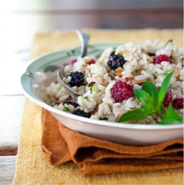 raspberries salad rice