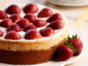 strawberries cheesecake
