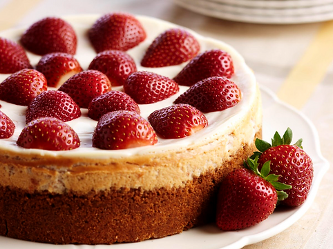 strawberries cheesecake