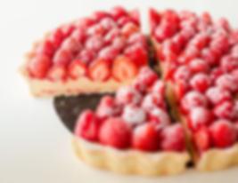 strawberries tart