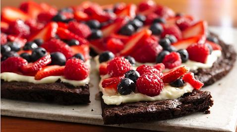 berries brownies