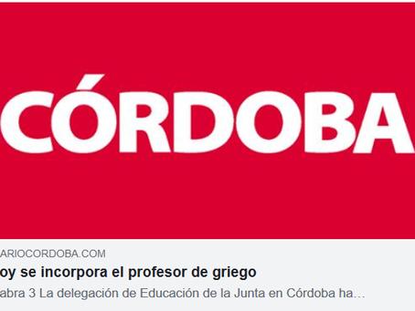 Vuelve el griego al IES de Cabra, Córdoba (21 de noviembre 2019)
