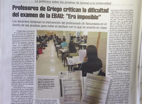 Asturias: profesores de griego critican el examen EBAU