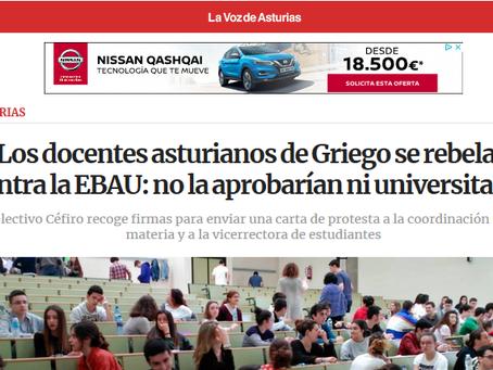 Los docentes asturianos de griego se rebelan contra la EBAU