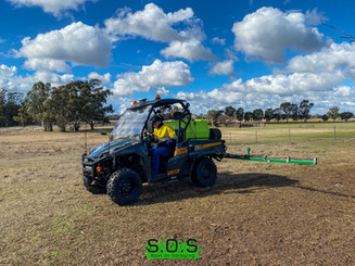 Spraying for Marshmallow Weed in a horse paddock in Ballimore NSW