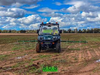 Our Landboss UTV Compact Sprayer in use on a local farm.