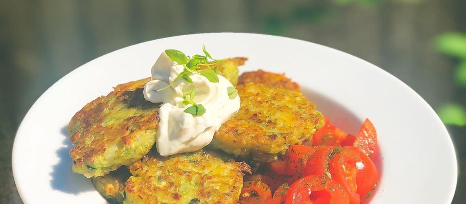 Zucchini Basil Fritters