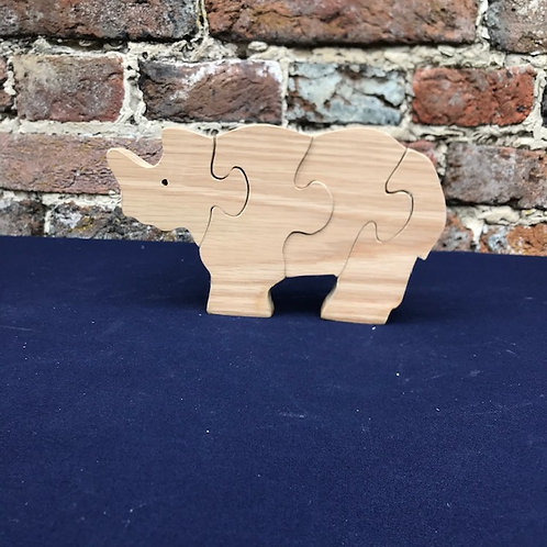 Hardwood Rhinoceros Puzzle