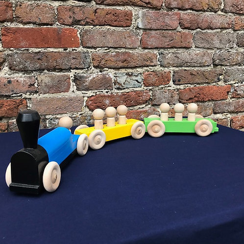 Full Length Toy Train with Removable People
