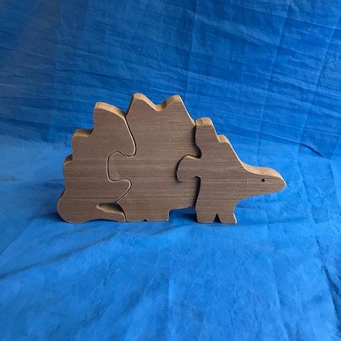 Hardwood Stegosaurus Puzzle
