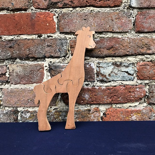 Hardwood Giraffe Puzzle