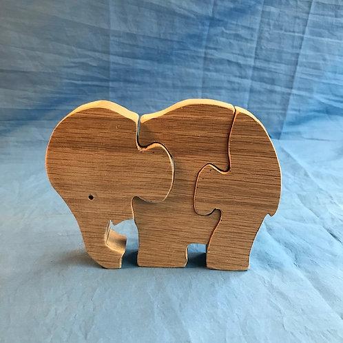 Hardwood Elephant Puzzle