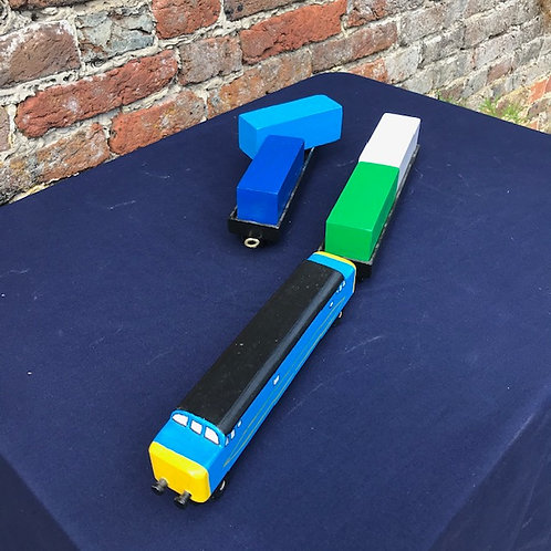 Small Diesel Train - engine & two wagons with removable cargo