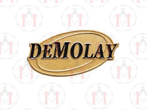 PIN DEMOLAY OVAL DOURADO