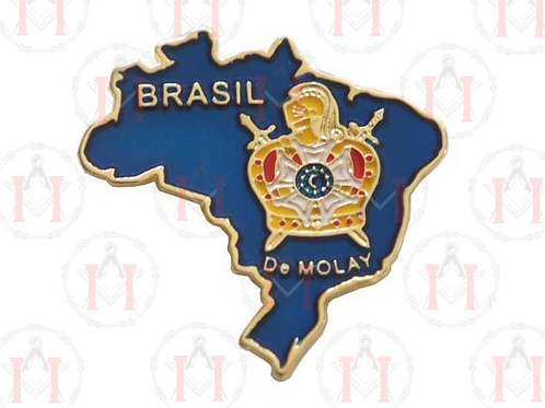 PIN MAPA DO BRASIL AZUL COM DEMOLAY