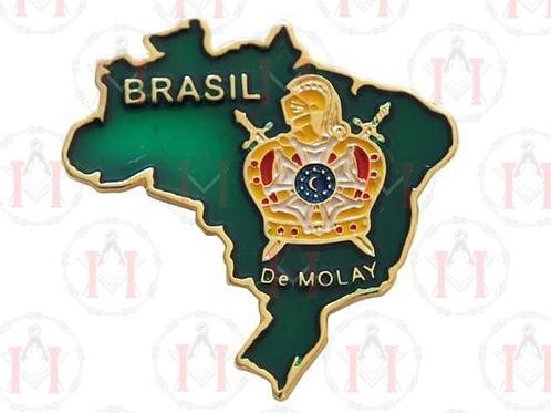 PIN MAPA DO BRASIL VERDE COM DEMOLAY