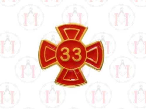 PIN GRAU 33 VERMELHO