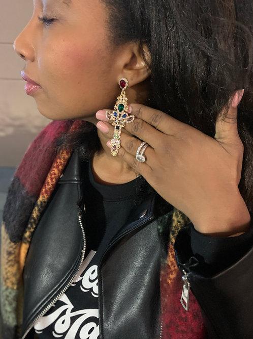 Crossroads Rhinestone Earrings