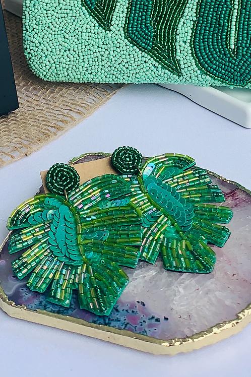 Tropical Leaf Earrings - Island Vibes