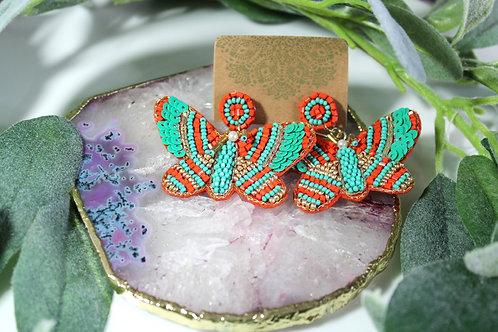 Butterfly Beeded Earrings