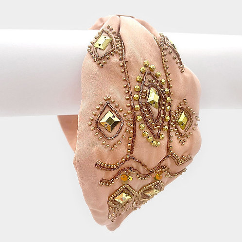 Crowned- Rose Gold Beaded