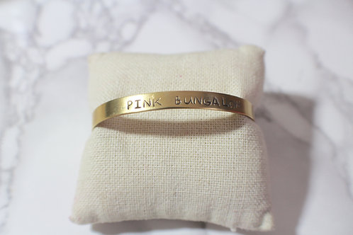Stamped Brass Cuff (Enter Your Text)