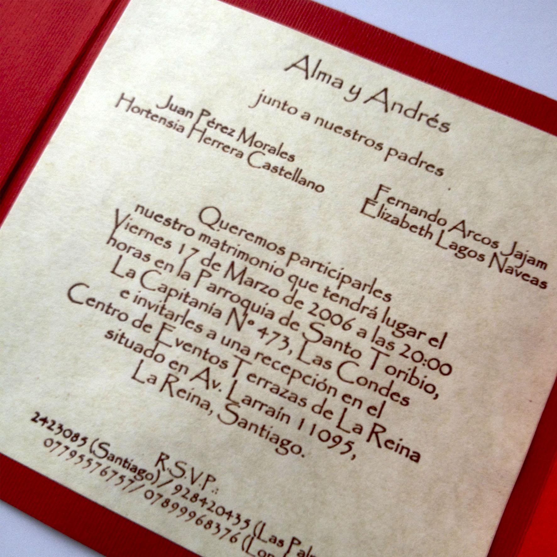 Invitaciones De Boda Capuyo