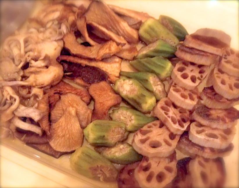 食べる瞑想 旬野菜の焼きびたし