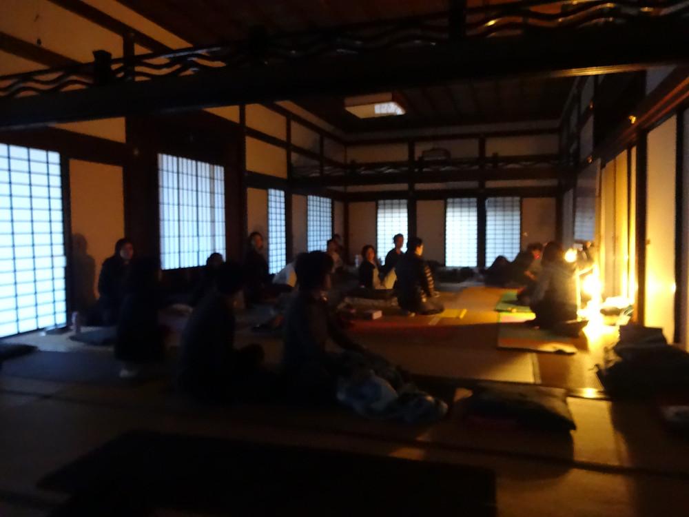 Yin Yoga with Sebastian and Murielle in Myoshinji 2016