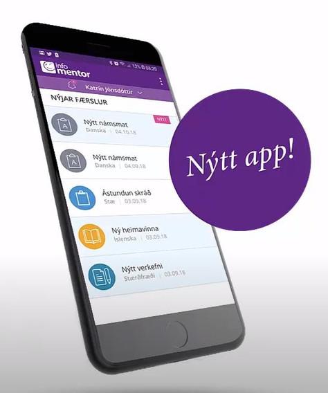Myndband um Mentor app í snjalltæki