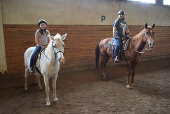 Mom Daughter on horses.JPG