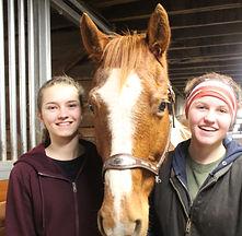 IMG_123 Victoria & Elsie with horse.JPG