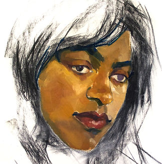 Kelly Frank Portrait Artist Studio London Female Artist Sky Portrait Artist of the year 2018