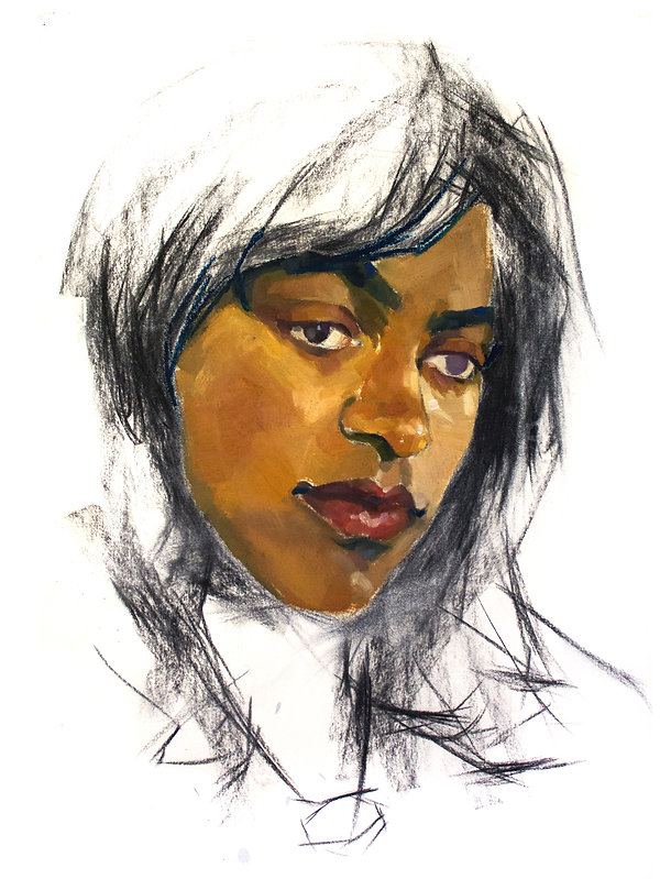 Kelly Frank Portrait Artist Studio London Female Artist Sky Portrait Artist of the year 2018 female face oil painting