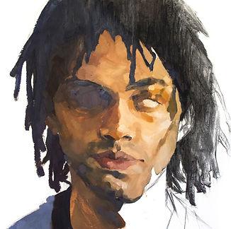 Kelly Frank Portrait Artist Studio London Female Artist Sky Portrait Artist of the year 2018 male face