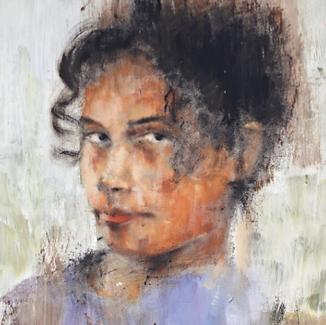 Kelly Frank Portrait Artist Studio London Female Artist Sky Portrait Artist of the year 2018  female face