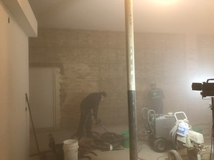 Dry Ice + Compressed Air = Clean Brick