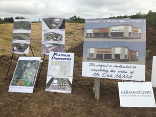 Hermantown Marketplace Breaking Ground