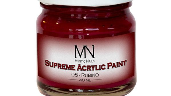 Supreme Acrylic Paint-05-Rubino- 40ml